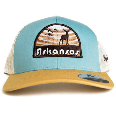 Hunt AR Hat - Smoke Blue/Amber Gold