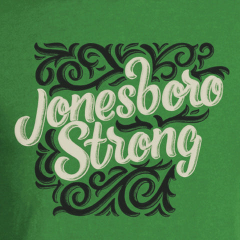 Jonesboro Strong Tee - Heather Green