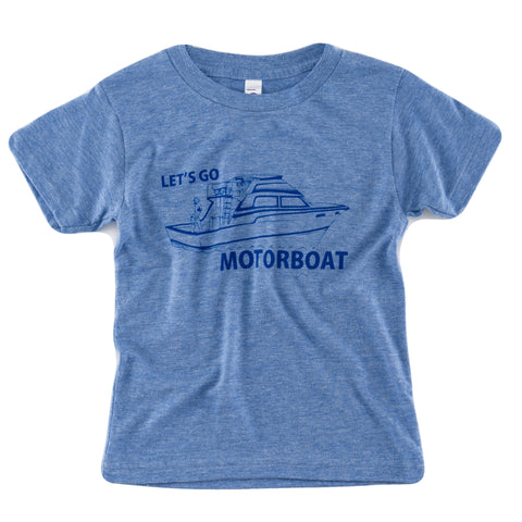 Let's Go Motorboat Kids tee