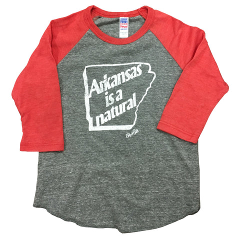 Arkansas is a Natural Kids Raglan