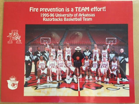 1995-1996 Arkansas Razorbacks Basketball Team Picture