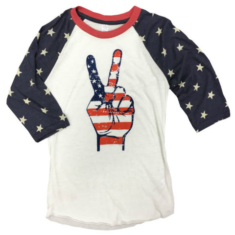 Peace Fingers Raglan