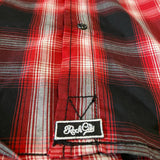 AR Pearl Snap Short Sleeve - Red/Black