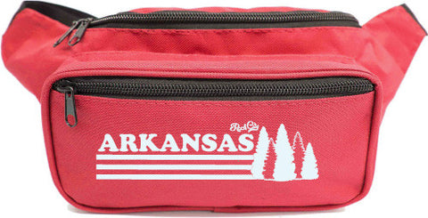 Arkansas Trees Fanny Pack - Red