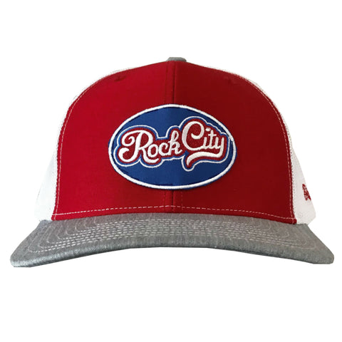 Rock City Script Hat - Red/Grey/White