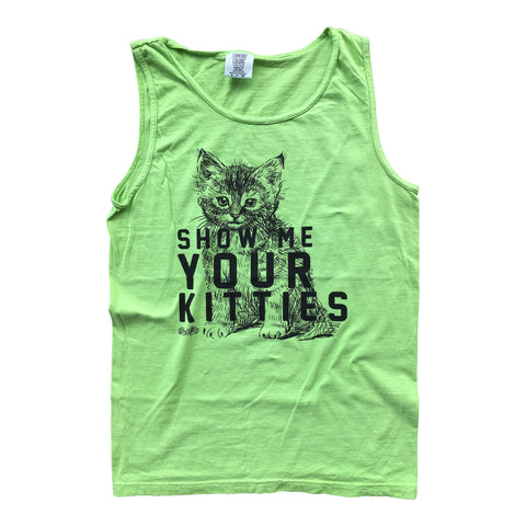 Show Me Your Kitties Tank - Limeade