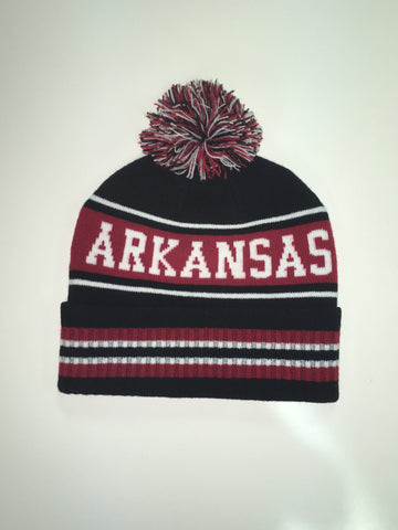 Arkansas Slouch Beanie - Black