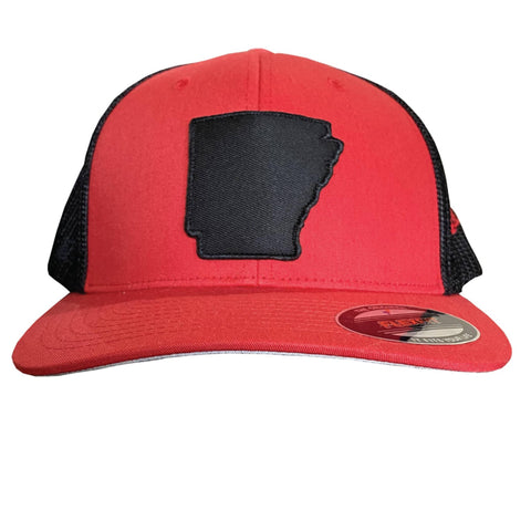 State of AR Hat - Fitted Red/Black