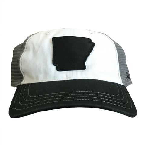 State of AR Hat - Unstructured Black/Grey