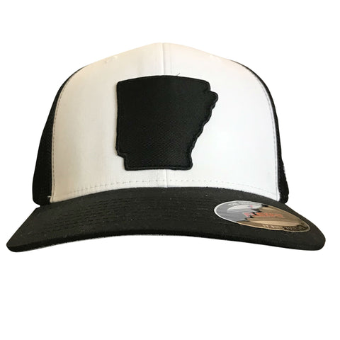 State of AR Hat - Fitted Black/White