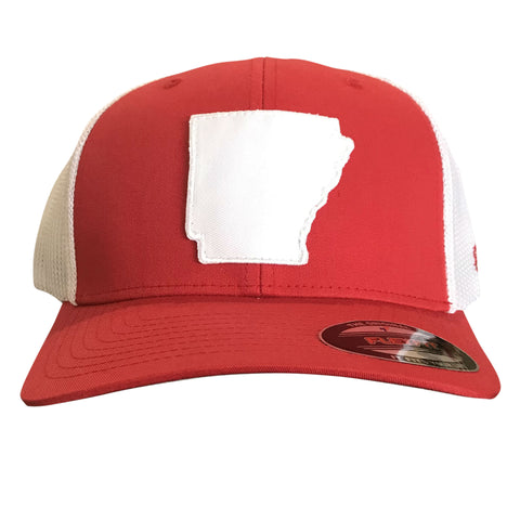 State of AR Hat - Fitted Red/White