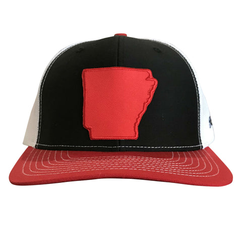 State of AR Hat - Snap Back Black/Red
