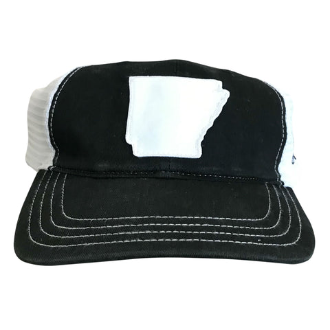 State of AR Hat - Unstructured Black/White
