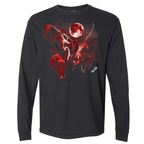 Three Hawg Moon Long Sleeve