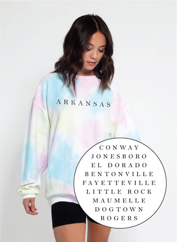 Hometown Corded Sweatshirt - Rainbow