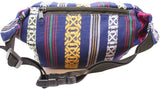 Woven Navy Fanny Pack