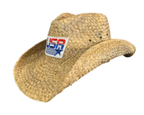 USA Flag Straw Cowboy Hat