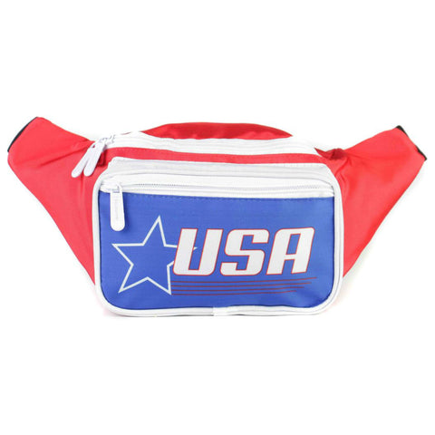 Fanny Pack - USA Red White & Blue Star