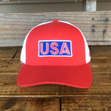 USA Hat - Red/White