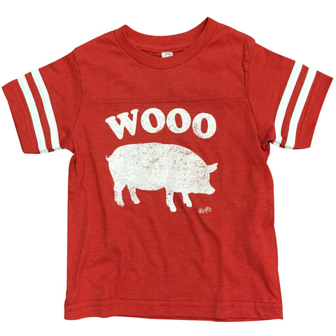 Wooo Pig Kids Striped Tee