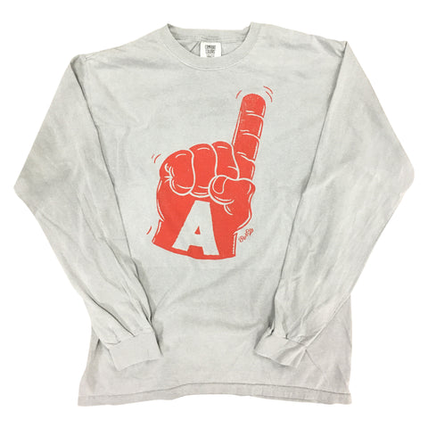 Foam Finger Long Sleeve, Grey