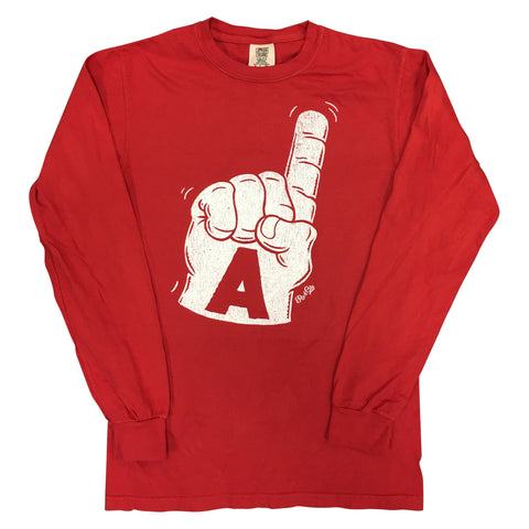 Foam Finger Long Sleeve, Red
