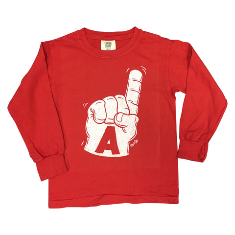 Foam Finger Youth Long Sleeve, Red