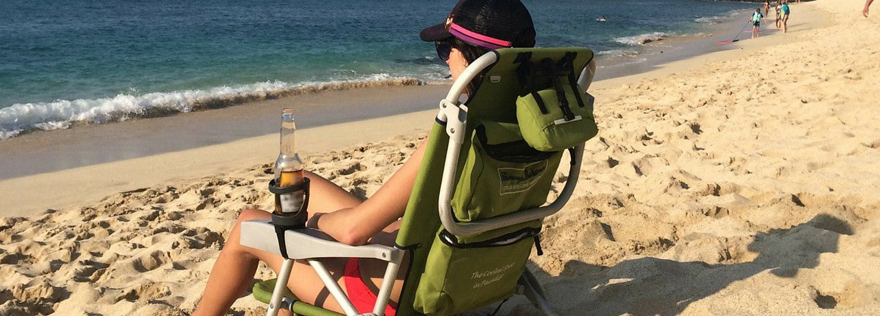 SunChaser Bevi Pro Outdoor Drink Holders for Beer Cans, Bottles, Cups, and Other Beverages - Picnics, Beach, Boats, RV's