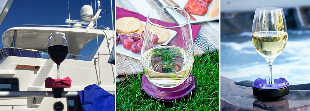 Outdoor Wine Glass Holder for concerts and picnics