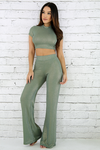 Chyna Shine Striped Pant Set