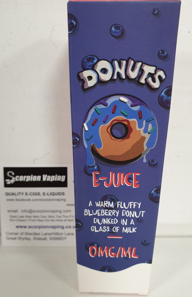 Marina Vape Blueberry Donuts E Liquid Shortfill