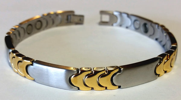 Magnetic Stainless Steel Arthritic Bangle HT0014S