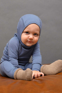 Merino Infant Thermal Leggings Bluestone