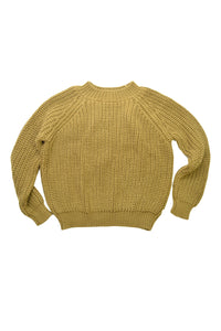 nui organics 100% merino wool women's fishline sweater in kelp