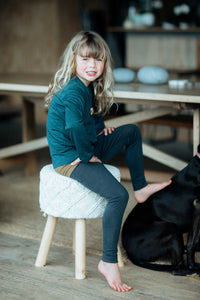 nui organics merino silk kids leggings