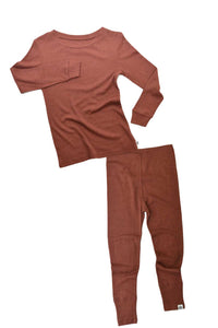 MerinoSilk Loungewear Set Rust