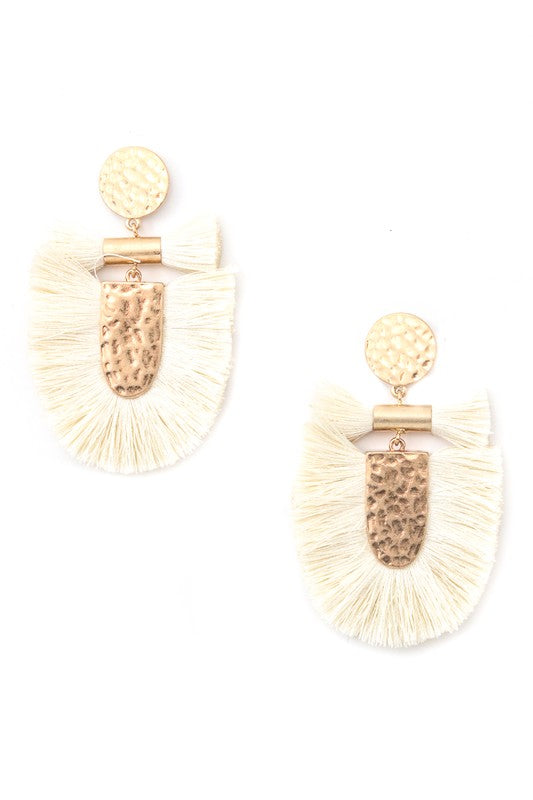 Metallic Fringe Earrings - Trunk Up