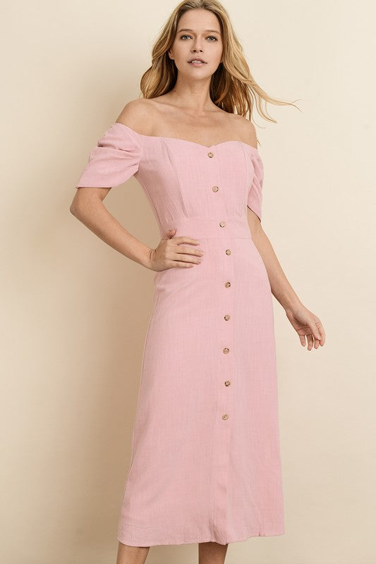 Blush Off Midi Dress - Trunk Up