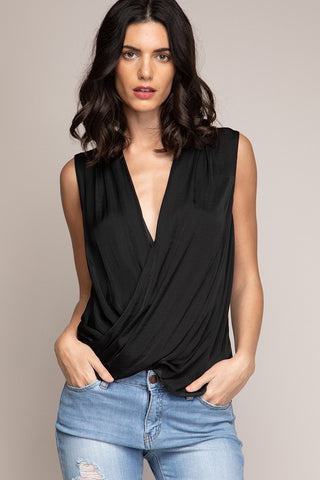 Black V-Neck Blouse - Trunk Up