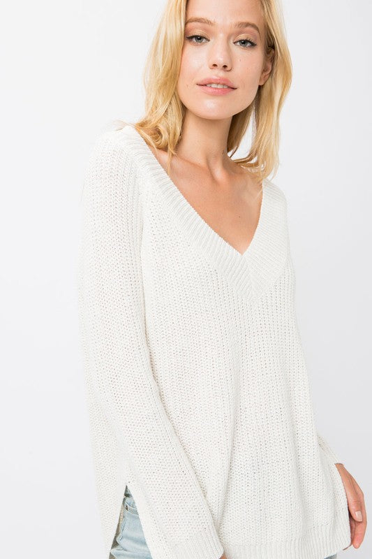 Knit V-Neck Sweater - Trunk Up