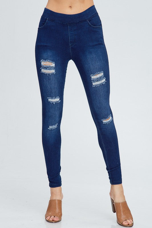 Ripped Jean Jeggings - Trunk Up