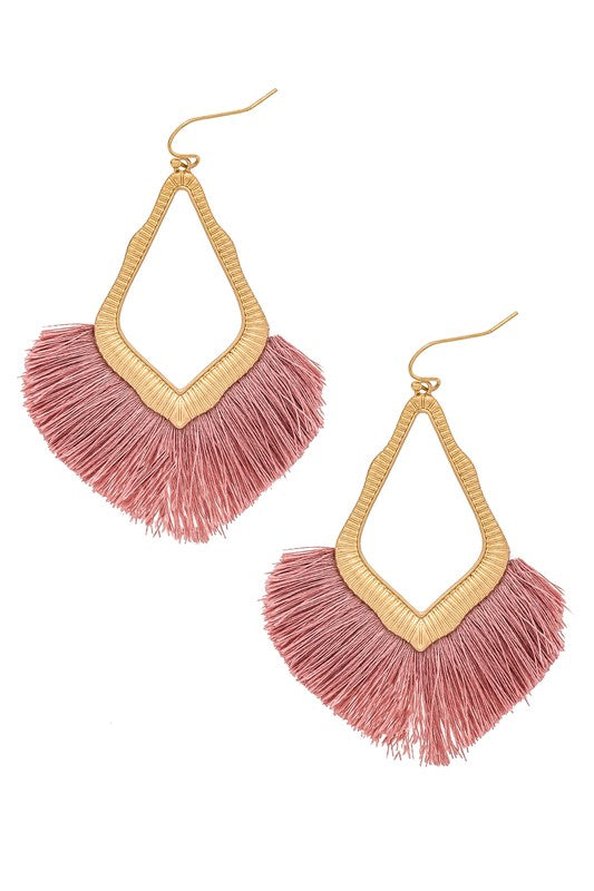 Tear Fringe Earrings - Trunk Up