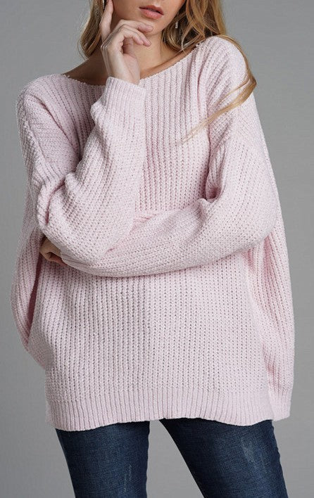 Open Blush Sweater