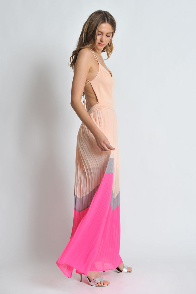 Peach & Pink Maxi Dress - Trunk Up - 2