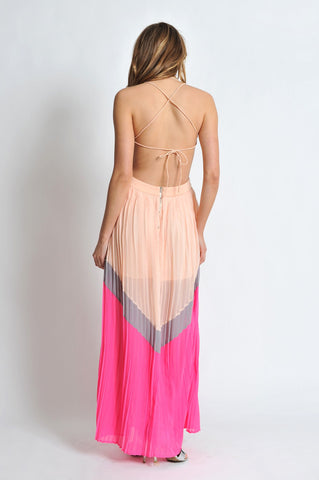 Peach & Pink Maxi Dress Trunk Up