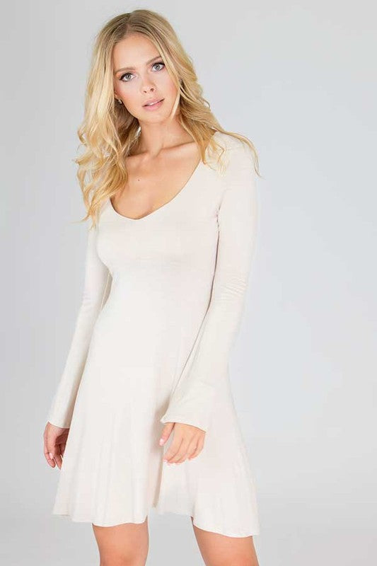 Taupe Notch Dress