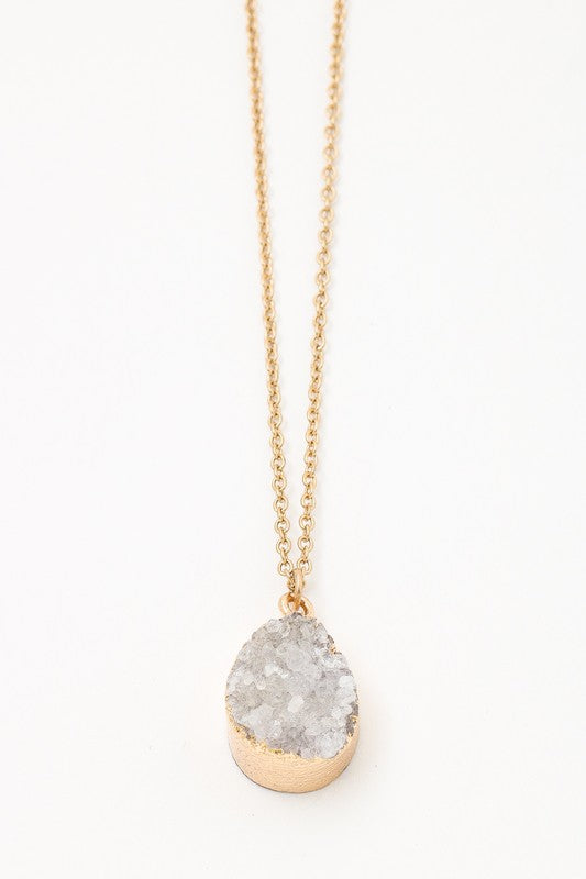 Dainty Gemstone Necklace - Trunk Up