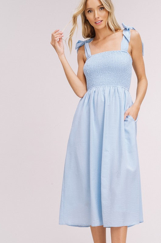 Baby Blue Midi Dress - Trunk Up