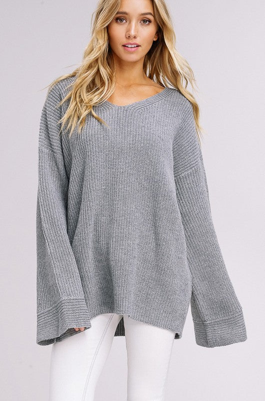Grey Belle Sweater - Trunk Up