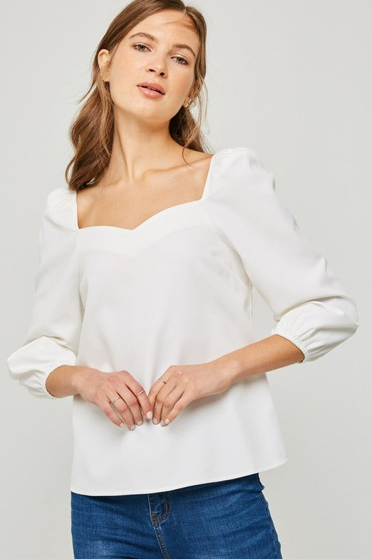 Sweetheart Poplin Top - Trunk Up
